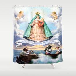 Virgen de N.S. de La Caridad del Cobre (Patrona de de la Isla de Cuba) Shower Curtain