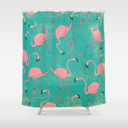 Pink Flamingo  Pattern Shower Curtain