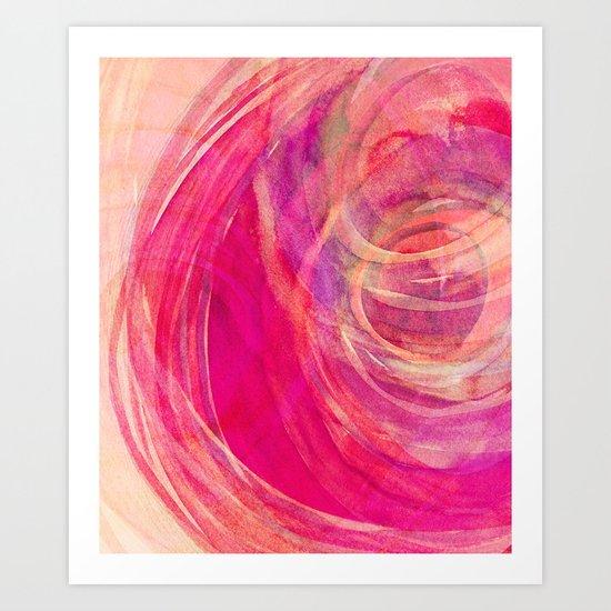 colour swirl Art Print