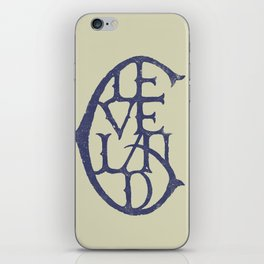 Vintage Cleveland Typography (Light) iPhone Skin