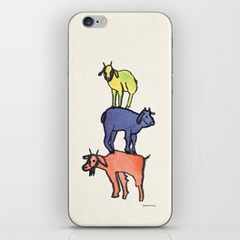 3 Billy Goats Up iPhone Skin