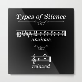 Types of silence (dark colors) Metal Print