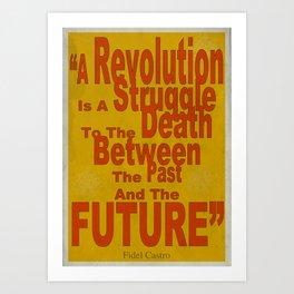 Fidel Castro - Quote Poster Art Print