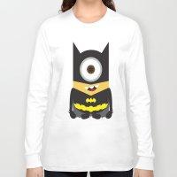 superheros Long Sleeve T-shirts featuring Minion - Superheros B by Antonia Elena