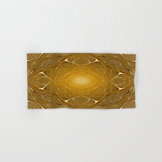 Gold ornament Hand & Bath Towel