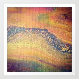 Rainbow River - Paint Pour Print Art Print
