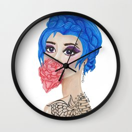 Flower Mouth Wall Clock