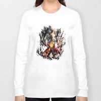 gurren lagann Long Sleeve T-shirts featuring  Kamina by ururuty
