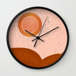 Rays of Love - Copper Light Wall Clock