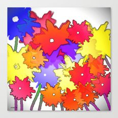 Cheery Abstract bouquet Canvas Print