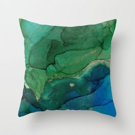 Ocean gold Throw Pillow