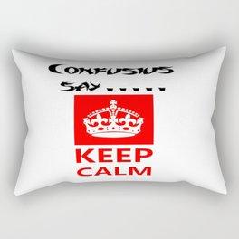 Confucius say.....Keep calm   Rectangular Pillow