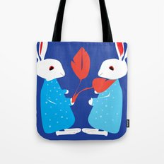 Winter Rabbits Tote Bag