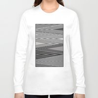 knit Long Sleeve T-shirts featuring Grey Knit by GPM Arts