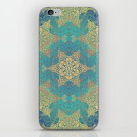 henna iPhone & iPod Skins featuring Blue Henna by Truly Juel