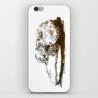 shih tzu iPhone & iPod Skins featuring Little Shih Tzu by Louise Hubbard