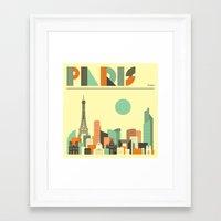 paris Framed Art Prints featuring PARIS by Jazzberry Blue