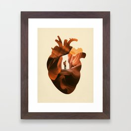 Heart Explorer Framed Art Print