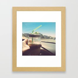 California Coffee Framed Art Print