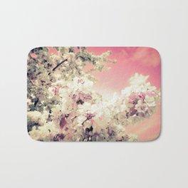 Pink Lavender Flowers Bath Mat