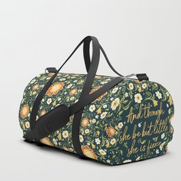 And though she be but little she is fierce (FFP1b) Duffle Bag