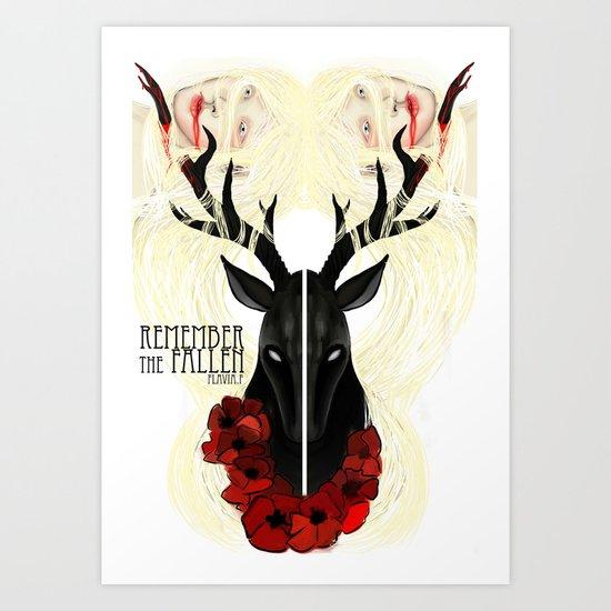 Remember the fallen Art Print