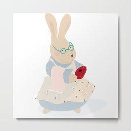 nonna coniglio Metal Print