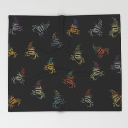 Magic Frogs Throw Blanket