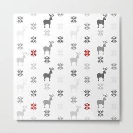Winter themed pattern design Metal Print