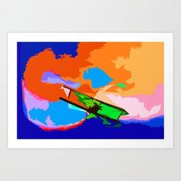 Biplane Aerobatics Art Print
