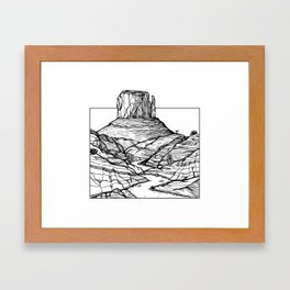 Monument Valley Hand Drawing Framed Art Print