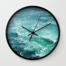 Sea Waves | Seascape Photography | Water | Ocean | Beach | Aerial Photography Wall Clock