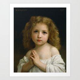 "William-Adolphe Bouguereau ""Little Girl"" Art Print"