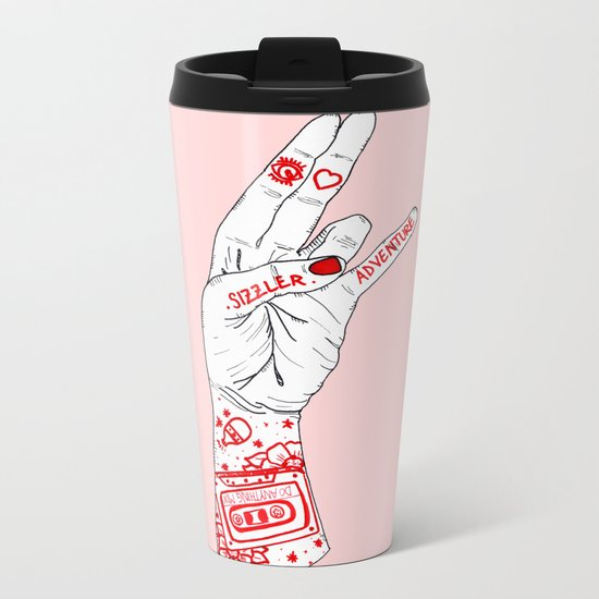 I Heart Adventure Metal Travel Mug