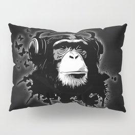 Monkey Business - Black Pillow Sham