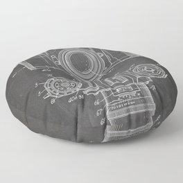 Camera Patent - Photography Art - Black Chalkboard Floor Pillow