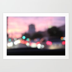 evening road Art Print