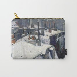 Gustave Caillebotte Rooftops in the Snow Carry-All Pouch