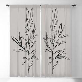 Elegant Olive Branch Blackout Curtain