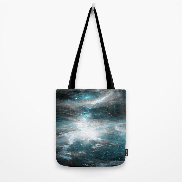 Orion Nebula Teal Gray Galaxy Tote Bag