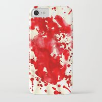 blood iPhone & iPod Cases featuring blood by LaSoffittaDiSte