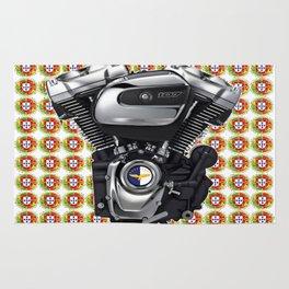 Portuguese Biker collage in white Rug