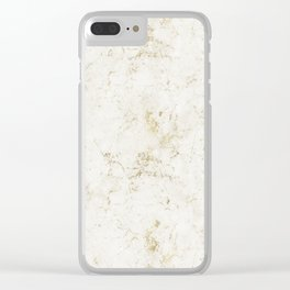 Gold Marble Mine Stone Clear iPhone Case