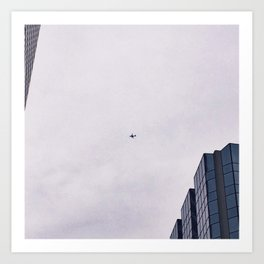 Airplanes Above Art Print