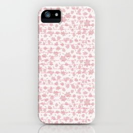 Pink floral with tonal lettering iPhone Case