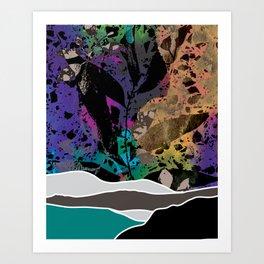 Abstract Hills 3 Art Print