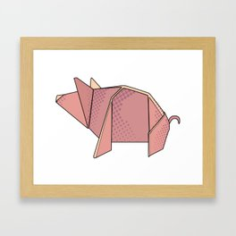 Origami New Year's Pig Framed Art Print
