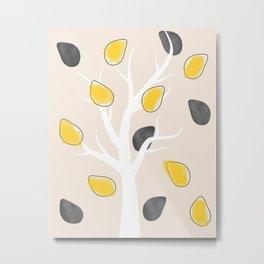 Tree and Leaves Metal Print