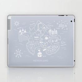 Neverland Map - Gray Laptop & iPad Skin