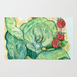 Rhubarb and Raspberries Rug